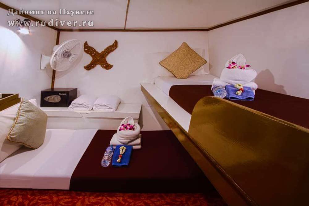Каюта бюджет - Корабль премиум класс -2 для дайв-сафари Симиланы и Ришелье