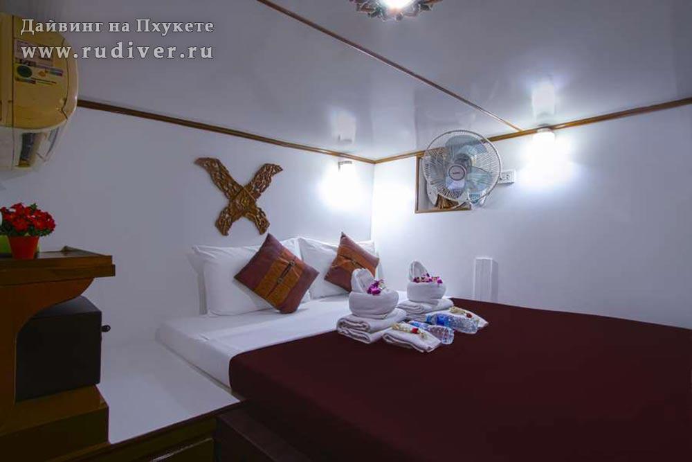 Каюта стандарт с двуспальной кроватью - Корабль премиум класс -2 для дайв-сафари Симиланы и Ришелье
