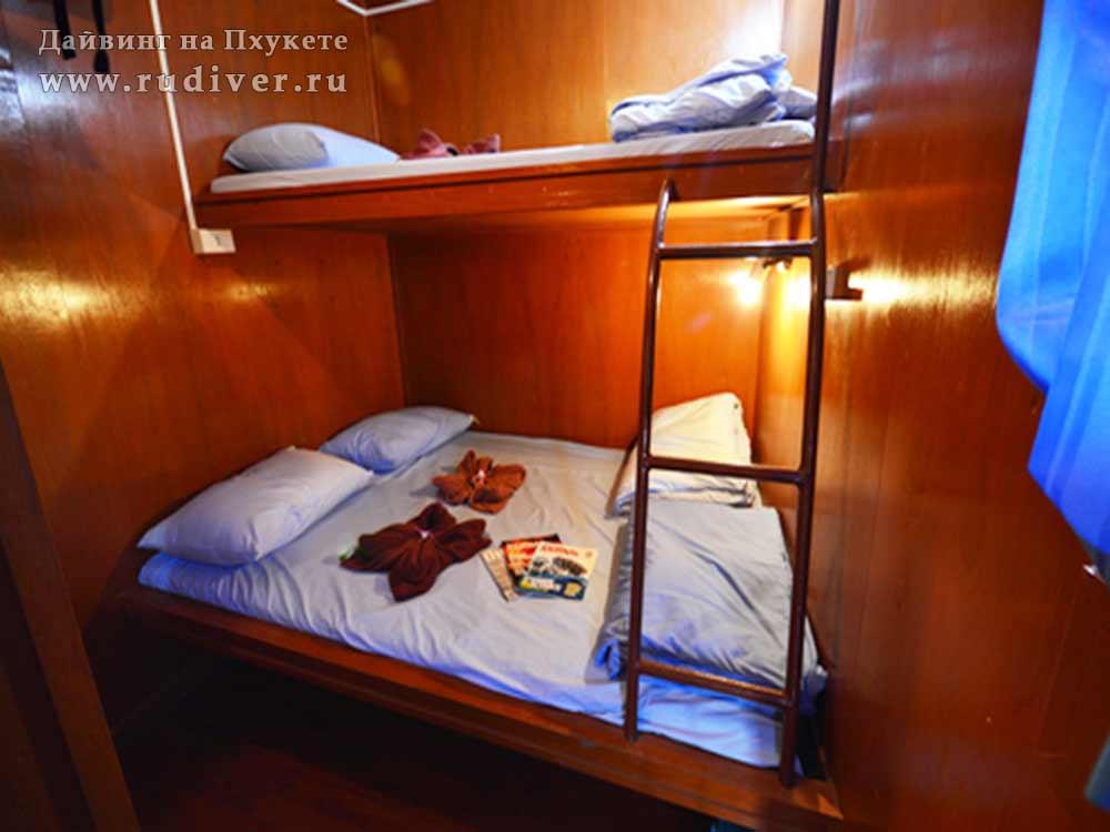2 –местная каюта ENSUITE - Дайв-сафари корабль-3 эконом класса на Симиланы и Ришелье