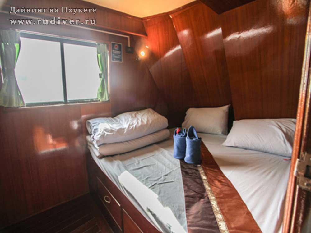 2 –местная каюта с двуспальной кроватью - Дайв-сафари корабль-1 эконом класса на Симиланы и Ришелье