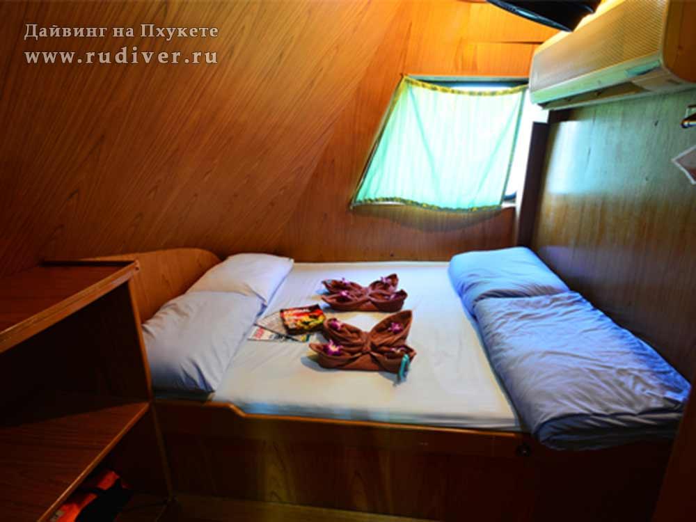 2 –местная каюта с двуспальной кроватью - Дайв-сафари корабль-2 эконом класса на Симиланы и Ришелье